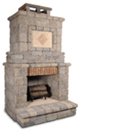 Do it yourself outdoor fireplace kits in Monroe and Charlotte