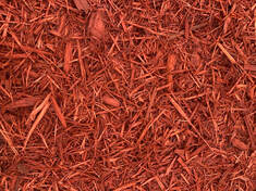 Premium Red Dyed Cedar Mulch
